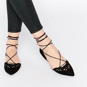 Aldo Harmony Ankle Lace Up Flats